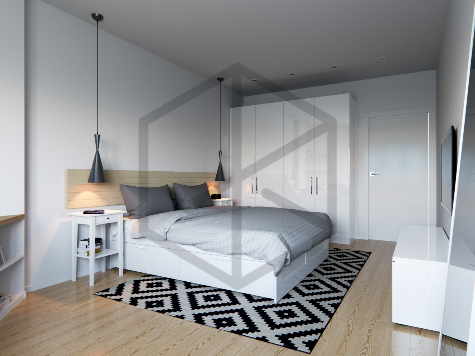 Bedroom-Scandinavian-interior-design-скандинавский-дизайн
