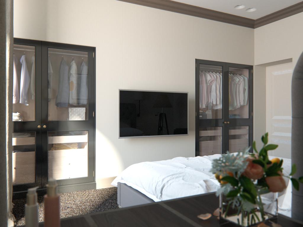 спальня, дизайн спальни, современный интерьер, бежевая спальня, дизайн интерьера одесса