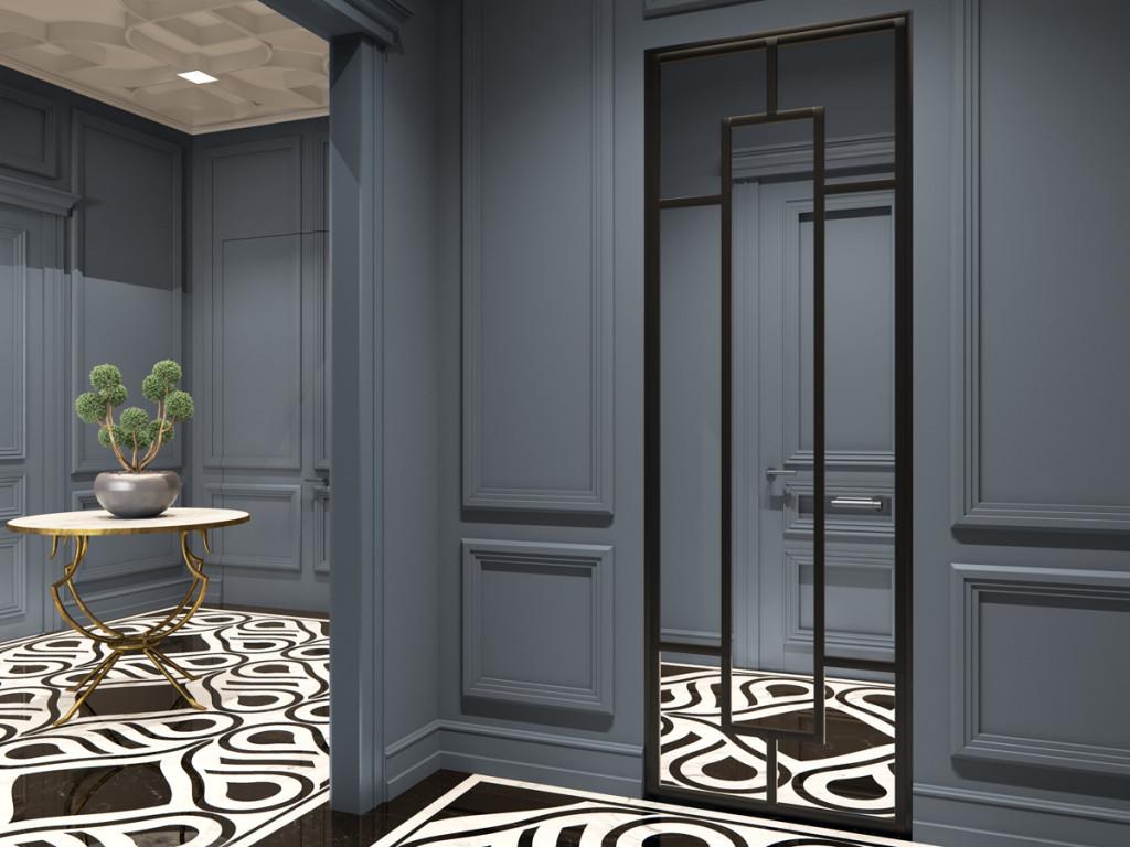 дизайн интерьера, дизайн интерьера одесса, дизайн коридора, дизайн прихожей, дизайн в классическом стиле