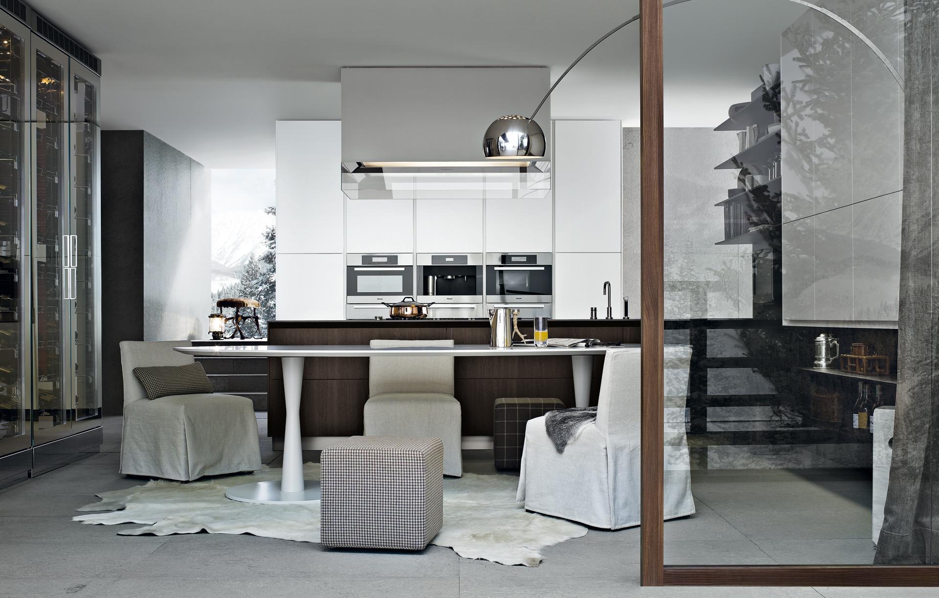 Varenna,интерьер, минимализм, современный интерьер, современная кухня, poliform, кухня, дизайн кухни