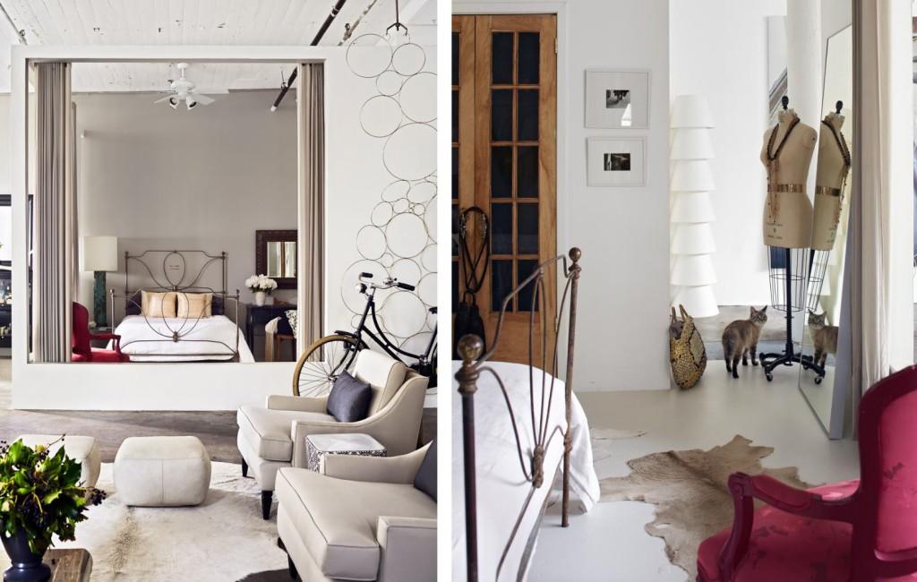 bedrom loft, loft, interior design, industrial style, лофт, спальня лофт