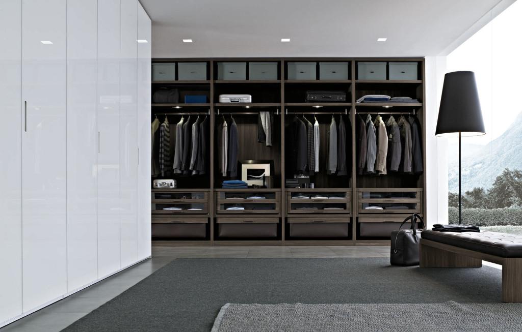 интерьер, минимализм, современный интерьер, гардеробная, poliform