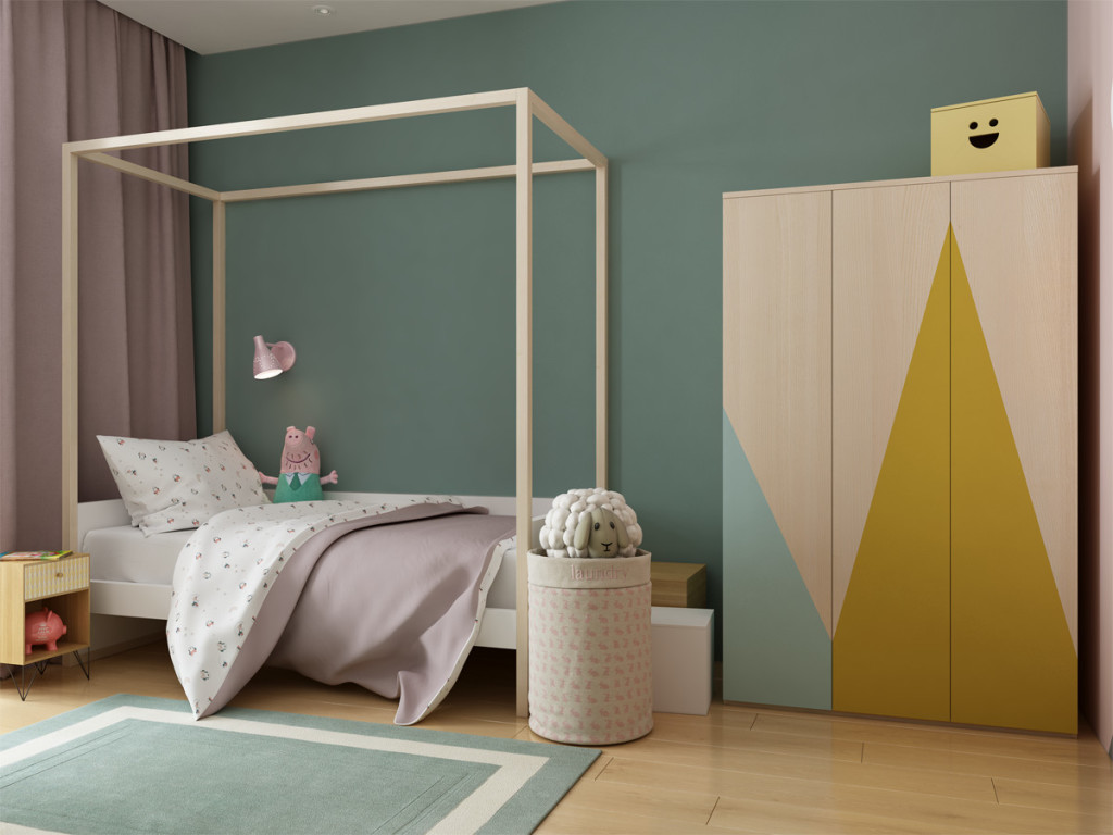 Спальня для маленькой девочки, дизайн детской, детская для девочки