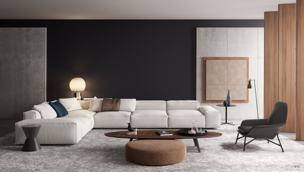 POLYVIZ Modern Living room render-1