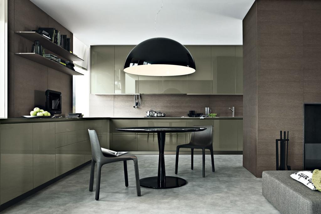 интерьер, минимализм, современный интерьер, столовая, poliform, кухня