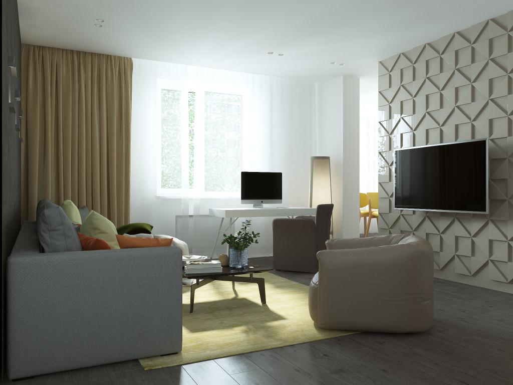 Дизайн интерьера одесса, дизайн гостиной, минимализм, современный интерьер, жк Радужный