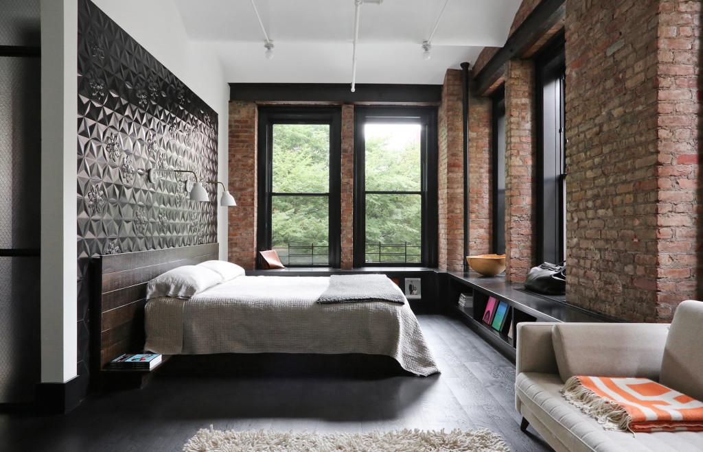bedroom design, bedroom loft, loft, industrial design, лофт в украине, лофт одесса, стиль лофт, спальня лофт, дизайн спальни, кирпич в интерьере