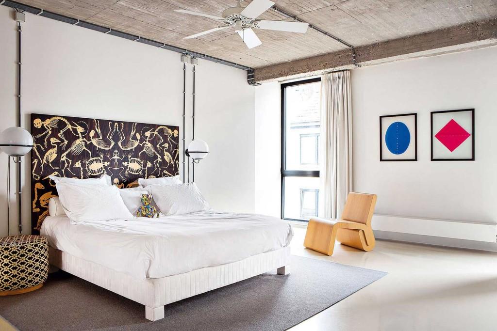 bedroom design, bedroom loft, loft, industrial design, лофт в украине, лофт одесса, стиль лофт, бетон в интерьере