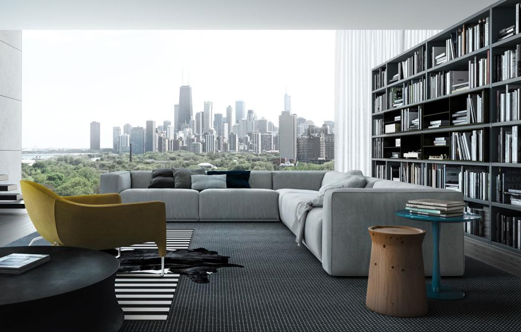 интерьер, минимализм, современный интерьер, гостиная, poliform