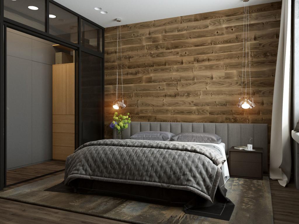 Лофт, индустриальный стиль, дизайн интерьера Одесса, бетон, спальня лофт