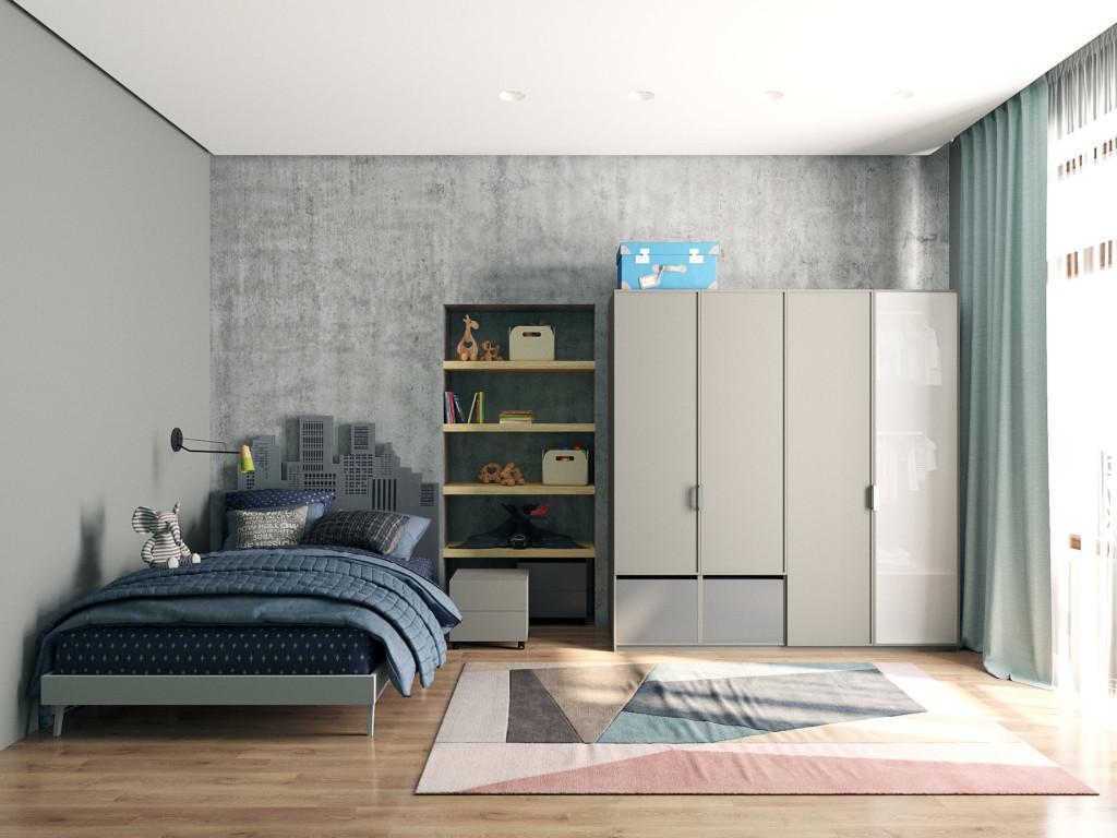 Лофт, индустриальный стиль, дизайн интерьера Одесса, бетон, детская лофт