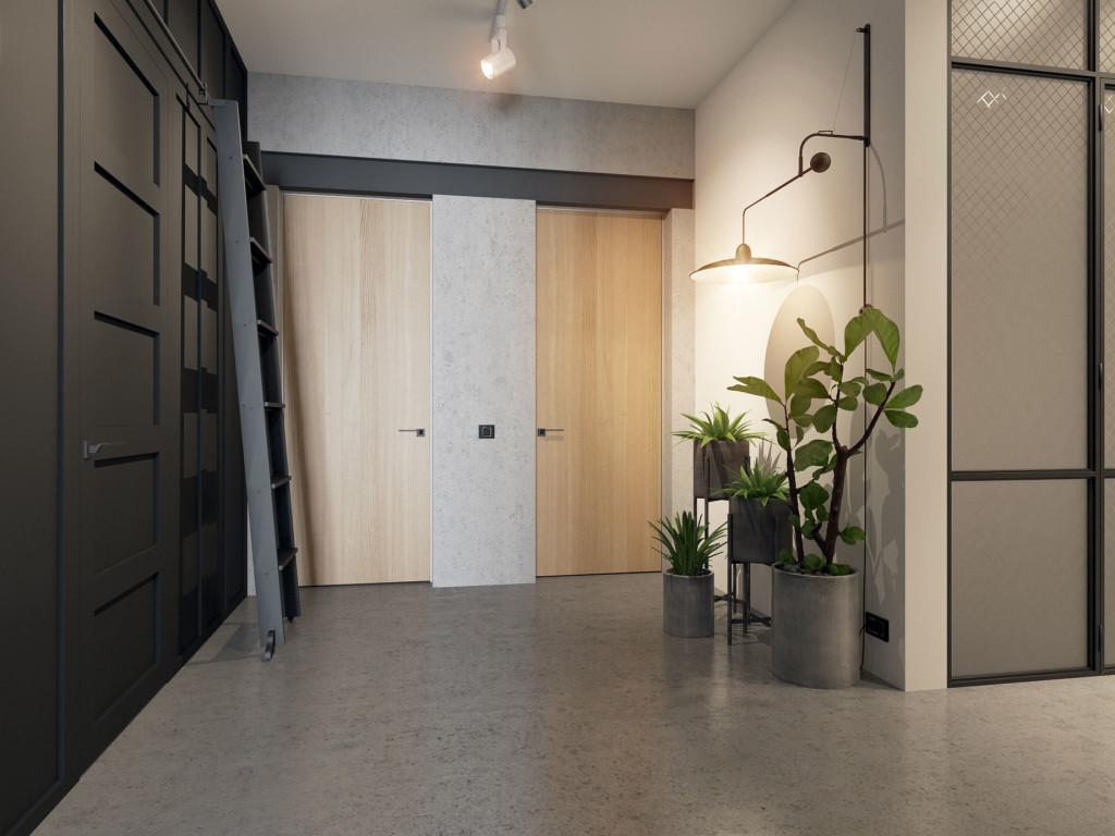 Лофт, индустриальный стиль, дизайн интерьера Одесса, бетон, наливные полы, микроцемент