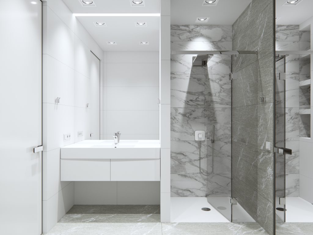 санузел минимализм, ванная минимализм, дизайн интерьера одесса, дизайн ванной