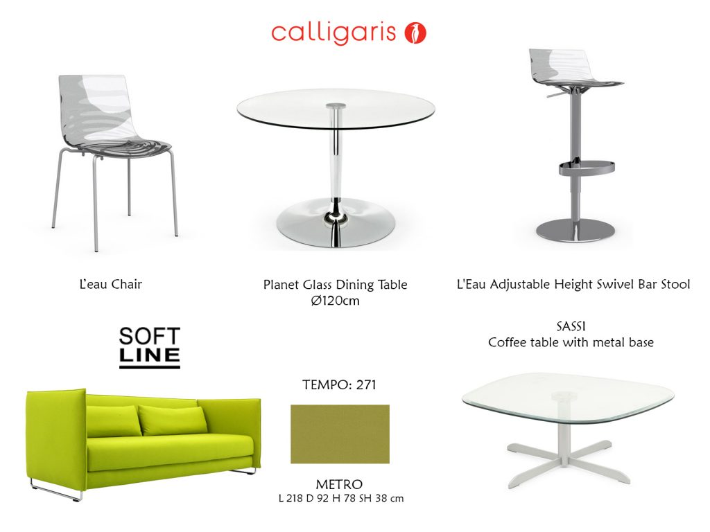 calligaris, softline, комплектация, дизайн интерьера, дизайн Одесса