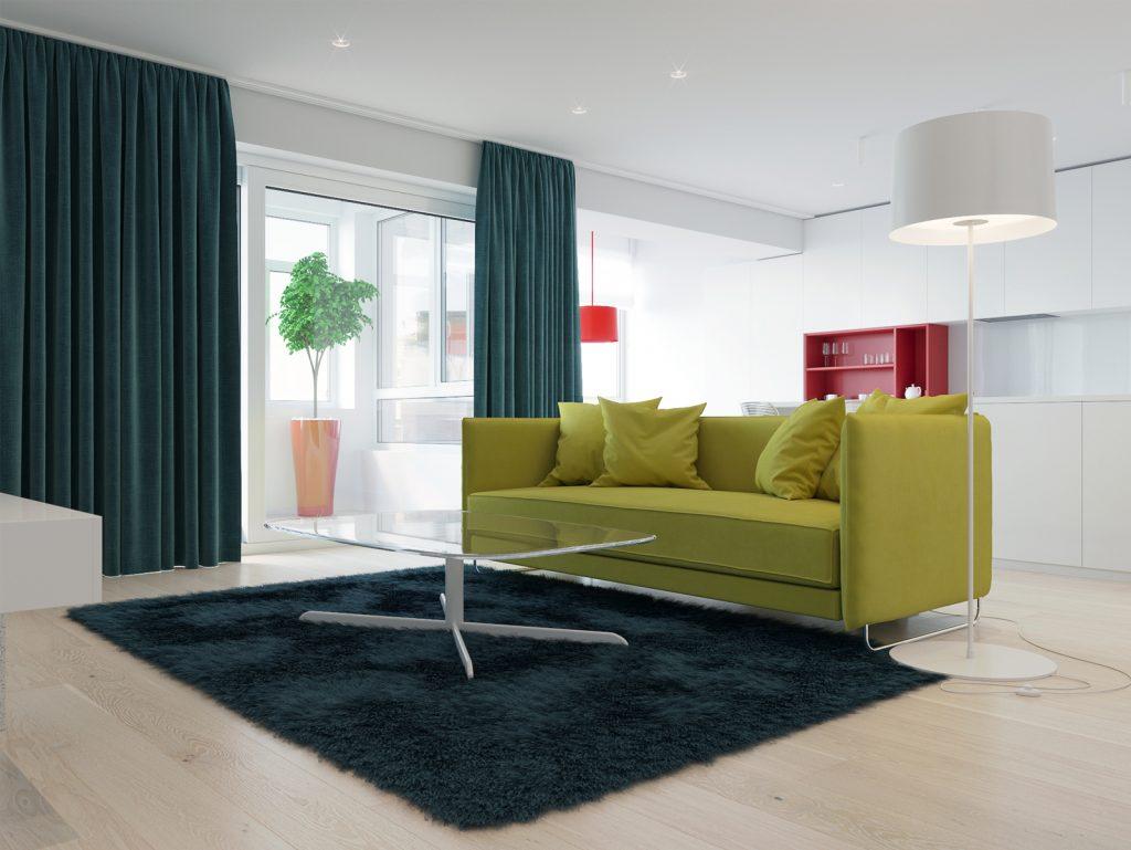 Минимализм, гостиная, дизайн Одесса, дизайн интерьера, красный, белый интерьер, дизайнер