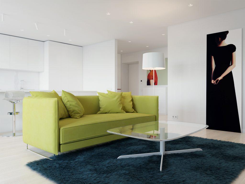 Минимализм, гостиная, дизайн Одесса, дизайн интерьера, красный, белый интерьер, дизайнер, живопись